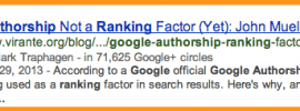 Google Authorship search result
